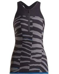 adidas By Stella McCartney - Train Miracle Tiger-stripe Print Tank Top - Lyst