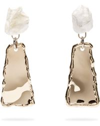Proenza Schouler - Stone Hammered Clip Earrings - Lyst