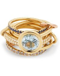 Spinelli Kilcollin - Rana Diamond, Yellow-gold & Rose-gold Rings - Lyst