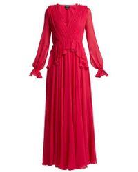 Giambattista Valli - Gathered Silk-chiffon Gown - Lyst