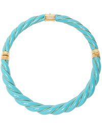 Aurelie Bidermann - Wood And Turquoise-stone Necklace - Lyst