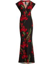 Norma Kamali - Floral Print Maxi Dress - Lyst