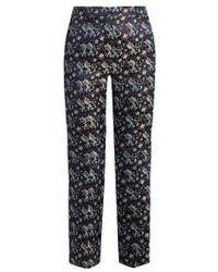 Erdem - Eda Floral-jacquard Flared Trousers - Lyst