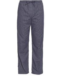 Derek Rose - Checked Brushed-cotton Pyjama Trousers - Lyst