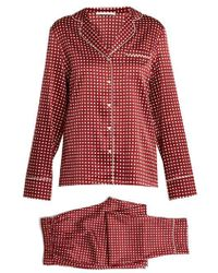 Stella McCartney - Polka-dot Print Stretch-silk Pyjama Set - Lyst
