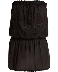 Melissa Odabash - Fruley Embroidered Strapless Dress - Lyst