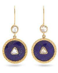 Jade Jagger - Diamond, Lapis & Yellow-gold Earrings - Lyst