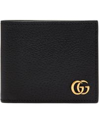 Gucci - Gg Marmont Grained Leather Bi Fold Wallet - Lyst