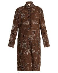 By Walid - Lori Floral-embroidered Cotton Coat - Lyst