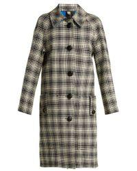 Burberry - Walkden Houndstooth A Line Wool Coat - Lyst
