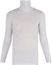 Vetements - Inside Out Stretch Cotton Roll Neck Top - Lyst