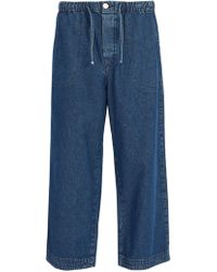 Raey - Drawstring Denim Trousers - Lyst