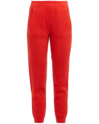 Allude - Ribbed Knit Cashmere Sweatpants - Lyst