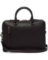 Burberry - Grained-leather Briefcase - Lyst