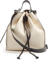 JW Anderson - Drawstring Pebbled-leather Bucket Bag - Lyst