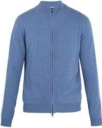 Derek Rose - Finley Funnel-neck Zip-up Cashmere Sweater - Lyst