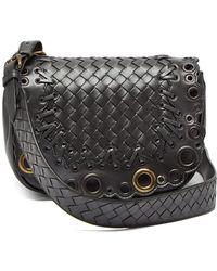12e430d56208 Bottega Veneta - Luna Intrecciato Leather Cross Body Bag - Lyst