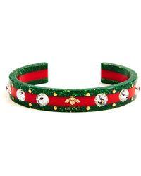 Gucci - Crystal-embellished Tennis Bracelet - Lyst
