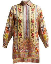 Etro - Rosemont Floral Print Shirt - Lyst