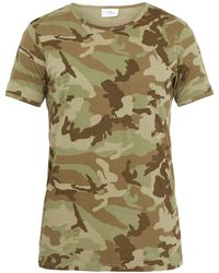 The White Briefs - Camo-Print Cotton T-Shirt - Lyst