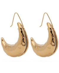 Marni - Moon 24kt Gold Plated Earrings - Lyst