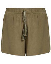 Zeus+Dione - Paxi Silk-crepe Shorts - Lyst
