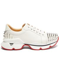 Christian Louboutin - Vrs 2018 Studded Low Top Leather Trainers - Lyst