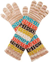 Missoni - Logo And Stripe Wool Gloves - Lyst