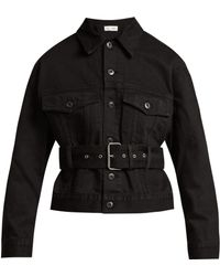 Proenza Schouler - Belted Cotton-denim Jacket - Lyst