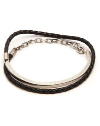 Title Of Work - Leather And Sterling-silver Wraparound Bracelet - Lyst