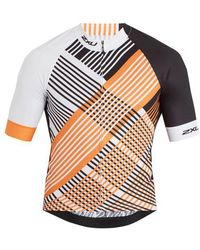 2XU - Checked Performance Cycling Top - Lyst