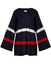 Allude - Hooded Striped Cashmere Sweater - Lyst