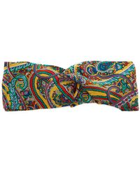 Etro - Paisley Print Silk Headband - Lyst