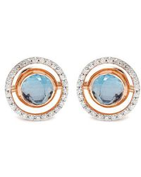 Marie Mas - Diamond, Amethyst, Topaz & Pink-gold Earrings - Lyst