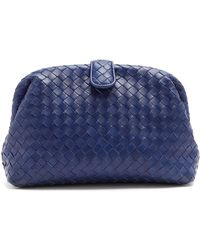 Bottega Veneta - Lauren Intrecciato-leather Clutch - Lyst