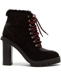 Valentino - Shearling-lined Suede Boots - Lyst