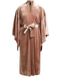 Norma Kamali - Exaggerated Sleeve Velvet Robe - Lyst
