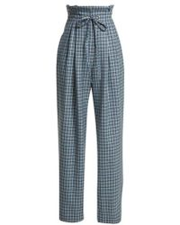 Rodarte - Checked Wool Paper Bag Trousers - Lyst