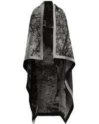 Mary McCartney - Horse-print Wool And Silk-blend Blanket Scarf - Lyst