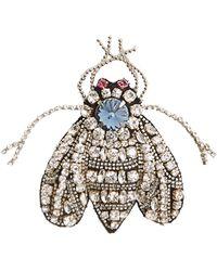 Rochas - Crystal-fly Brooch - Lyst