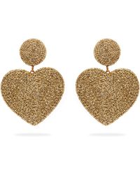 Rebecca de Ravenel - Cora Heart Cord Earrings - Lyst
