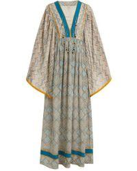 Talitha - Maghreb-print Silk Maxi Dress - Lyst