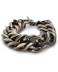 Ann Demeulemeester Chunky Chain Sterling Silver Bracelet