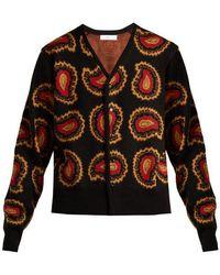 Toga - Paisley Intarsia-knit V-neck Cardigan - Lyst
