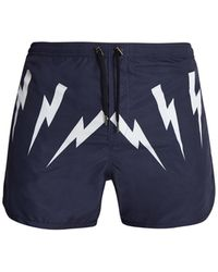 Neil Barrett | Lightning-bolt Print Swim Shorts | Lyst