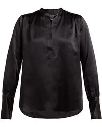 12370de99bdddd Nili Lotan - Colette Silk Satin Blouse - Lyst