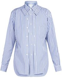 Comme des Garçons - Double Layer Striped Cotton Shirt - Lyst