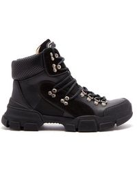 Gucci - Flashtrek Leather Hiking Boots - Lyst