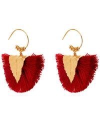 Elise Tsikis - Agia Tassel Embellished Earrings - Lyst