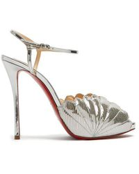Christian Louboutin - Botticella 120mm Reptile-effect Leather Sandals - Lyst